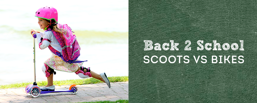 Back to School: Scoot vs. Bike